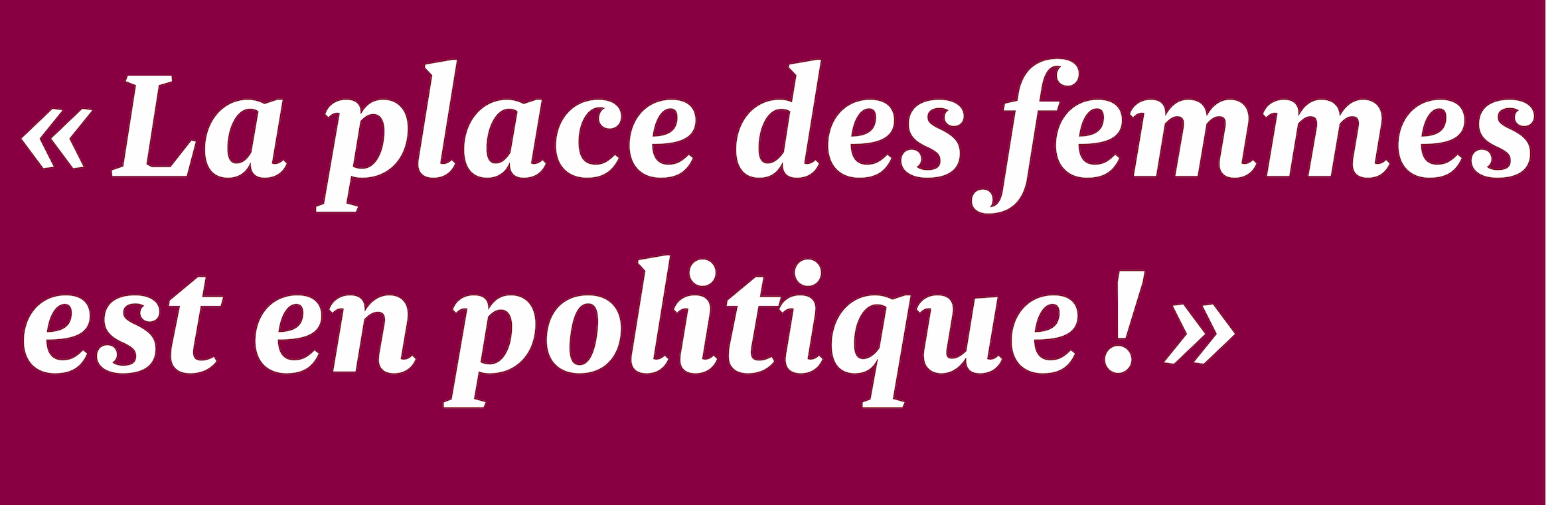 PlacePolitique